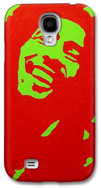 Icons Prints Paintings Galaxy S4 Cases - Bob Marley Galaxy S4 Case by John  Nolan