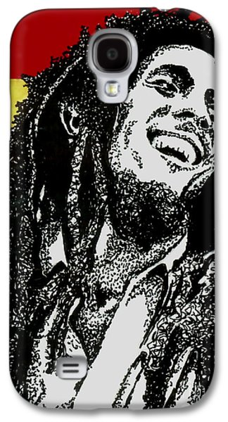 Music Drawings Galaxy S4 Cases - Bob Marley-Laughing Galaxy S4 Case by Cory Still