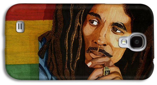 Music Drawings Galaxy S4 Cases - Bob Marley Legend Galaxy S4 Case by Cory Still