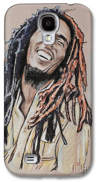 Celebrities Pastels Galaxy S4 Cases - Bob Marley Galaxy S4 Case by Melanie D