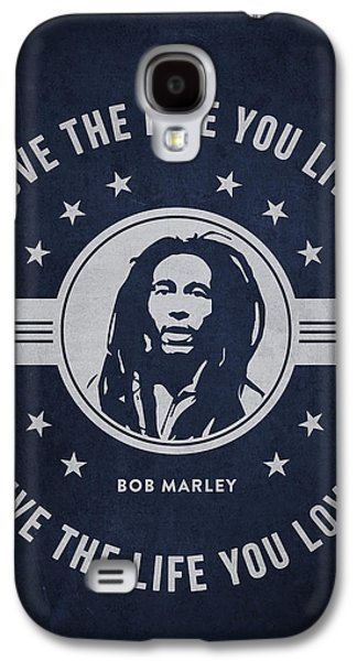 Autographed Galaxy S4 Cases - Bob Marley - Navy Blue Galaxy S4 Case by Aged Pixel