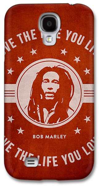 Autographed Galaxy S4 Cases - Bob Marley - Red Galaxy S4 Case by Aged Pixel