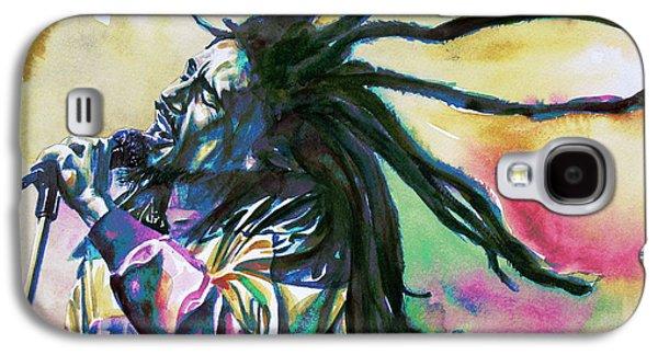 Jamaican Paintings Galaxy S4 Cases - Bob Marley Singing Portrait.1 Galaxy S4 Case by Fabrizio Cassetta