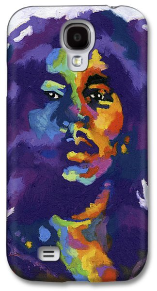 Jamaican Paintings Galaxy S4 Cases - Bob Marley Galaxy S4 Case by Stephen Anderson