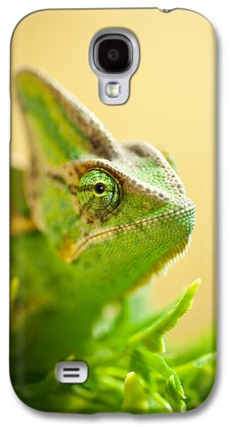 Chameleon Galaxy S4 Cases - Bob the Chameleon  Galaxy S4 Case by Samuel Whitton
