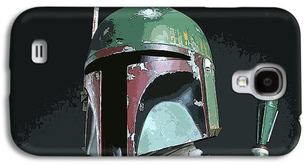 Boba Fett Portrait Galaxy S4 Case by George Pedro