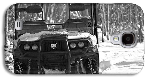 Bobcats Galaxy S4 Cases - Bobcat ATV In Winter Galaxy S4 Case by Dan Sproul