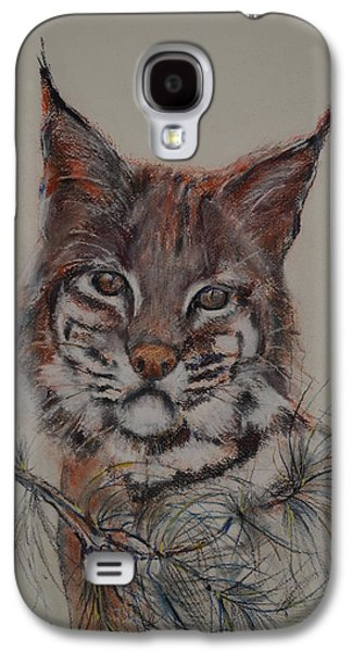 Bobcats Pastels Galaxy S4 Cases - Bobcat Galaxy S4 Case by Dorothy Campbell Therrien