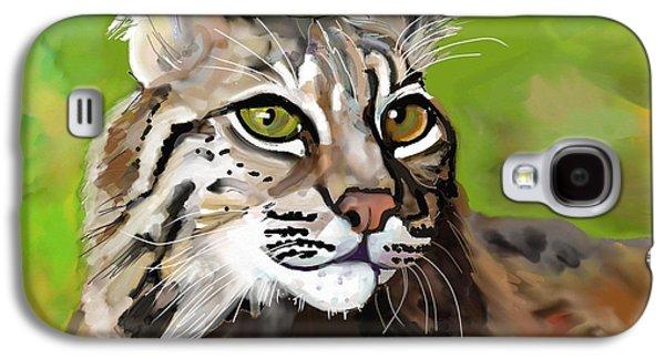Bobcats Digital Galaxy S4 Cases - Bobcat Katta Galaxy S4 Case by Marie Clark