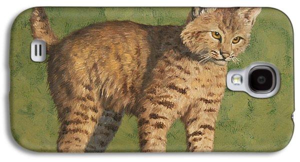 Bobcats Galaxy S4 Cases - Bobcat Kitten Galaxy S4 Case by Crista Forest