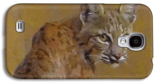 Bobcats Digital Galaxy S4 Cases - Bobcat Portrait Galaxy S4 Case by Rick Lloyd