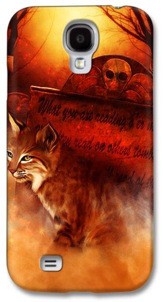 Bobcats Digital Galaxy S4 Cases - Bobcat Spirit Galaxy S4 Case by Kerri Ann Crau