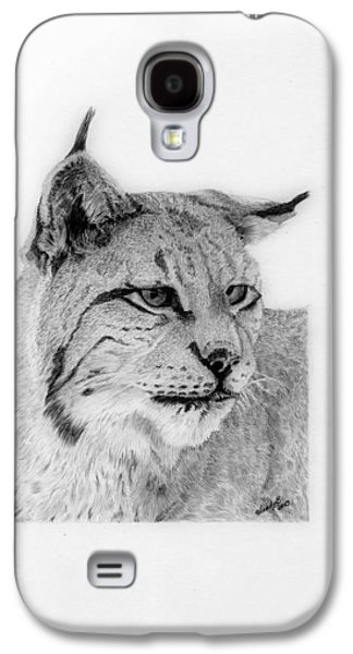 Bobcats Drawings Galaxy S4 Cases - Bobcat Galaxy S4 Case by Wendy Brunell