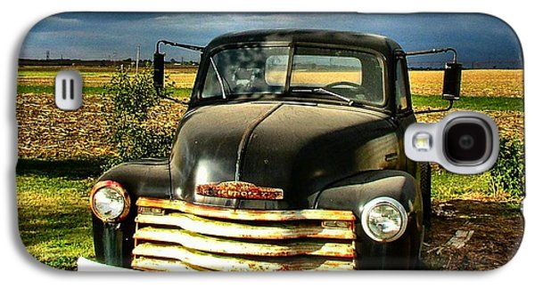 Julie Dant Galaxy S4 Cases - Bobs Old Chevy Truck Galaxy S4 Case by Julie Dant