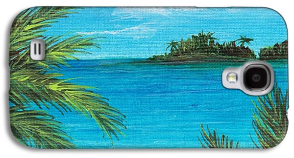 Nature Scene Drawings Galaxy S4 Cases - Boca Chica Beach Galaxy S4 Case by Anastasiya Malakhova