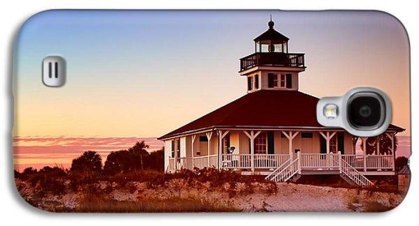 Frame House Galaxy S4 Cases - Boca Grande Lighthouse - Florida Galaxy S4 Case by Nikolyn McDonald