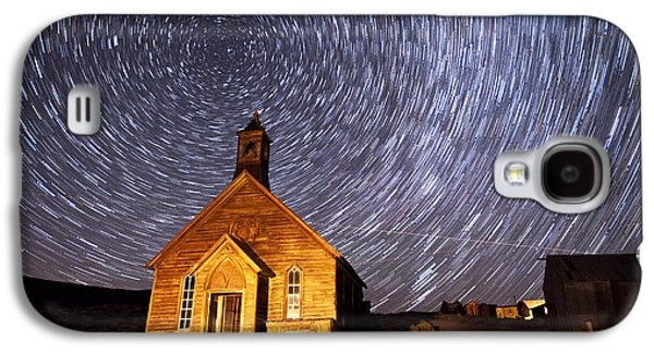 Abandoned House Photographs Galaxy S4 Cases - Bodie Star Trails Galaxy S4 Case by Cat Connor