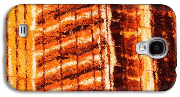Buildings Digital Galaxy S4 Cases - Body Heat Galaxy S4 Case by Ayse Deniz