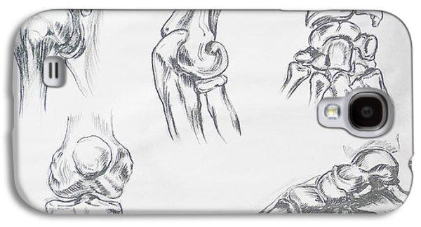 Skeleton Galaxy S4 Cases - Body Parts anatomy Study Galaxy S4 Case by Irina Sztukowski