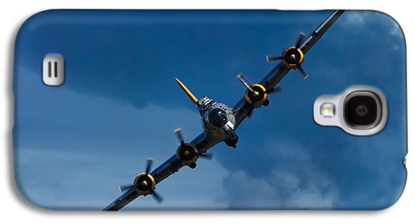 Dogfight Galaxy S4 Cases - Boeing B-17 Flying Fortress Galaxy S4 Case by Adam Romanowicz