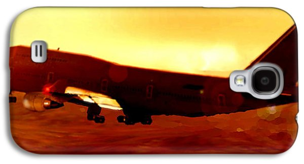Passenger Plane Mixed Media Galaxy S4 Cases - Boeing beauty Galaxy S4 Case by Marcello Cicchini