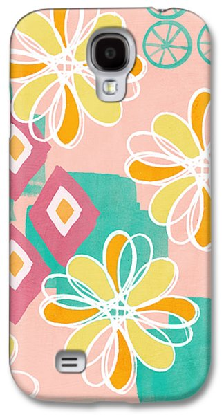 Boho Floral Garden Galaxy S4 Case by Linda Woods