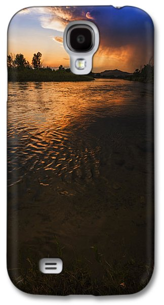 Reflections Of Sky In Water Galaxy S4 Cases - Boise River Dramatic Sunset Galaxy S4 Case by Vishwanath Bhat