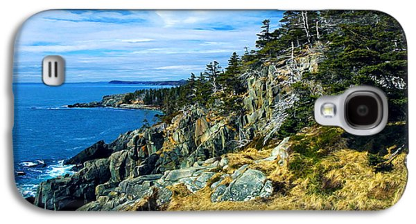 Coastal Maine Galaxy S4 Cases - Bold Coast in Fall Galaxy S4 Case by Bill Caldwell -        ABeautifulSky Photography