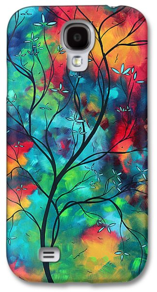 Bold Rich Colorful Landscape Painting Original Art Colored Inspiration By Madart Galaxy S4 Case by Megan Duncanson