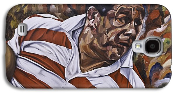 Rugby Paintings Galaxy S4 Cases - Billy Boston Galaxy S4 Case by James Lavott