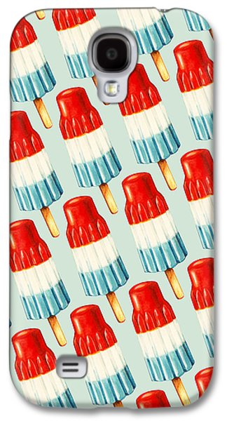 4th July Digital Galaxy S4 Cases - Bomb Pop Pattern Galaxy S4 Case by Kelly Gilleran