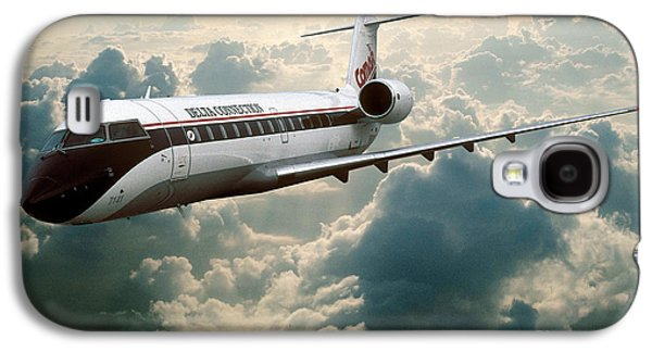 Fixed Wing Multi Engine Photographs Galaxy S4 Cases - Bombardier-Canadair Regional Jet CRJ Galaxy S4 Case by Wernher Krutein