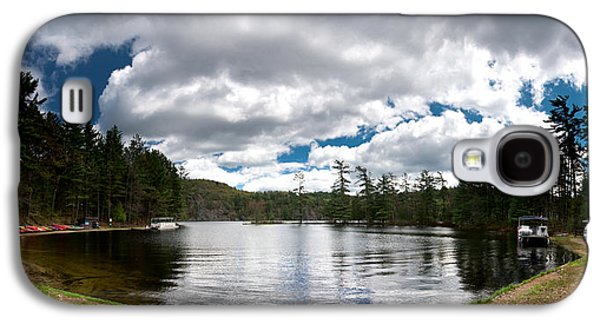 Canoe Galaxy S4 Cases - Bon Echo Lagoon Panorama Galaxy S4 Case by Cale Best