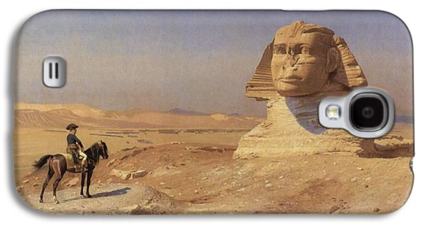 Gerome Galaxy S4 Cases - Bonaparte before the Sphinx Galaxy S4 Case by Jean-Leon Gerome