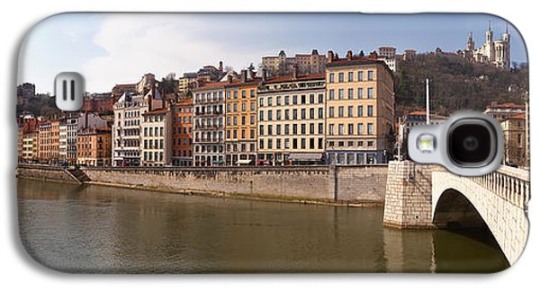 Rhone Alpes Galaxy S4 Cases - Bonaparte Bridge Over The Saone River Galaxy S4 Case by Panoramic Images