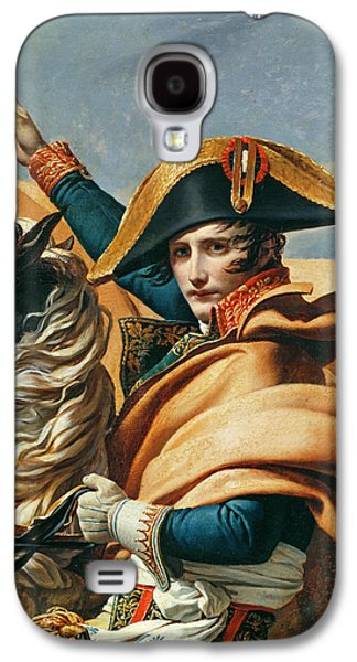Emperor Galaxy S4 Cases - Bonaparte Crossing The Alps Oil On Canvas Detail Of 18491 Galaxy S4 Case by Jacques Louis David