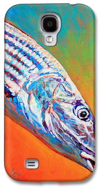Flyfishing Galaxy S4 Cases - Bonefish Portrait Galaxy S4 Case by Savlen Art