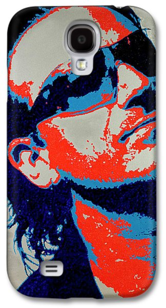 U2 Paintings Galaxy S4 Cases - Bono Galaxy S4 Case by Barry Novis