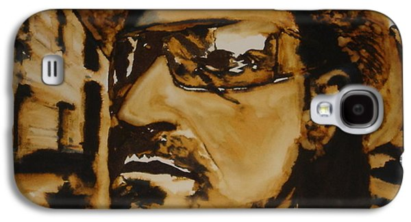U2 Paintings Galaxy S4 Cases - Bono Galaxy S4 Case by Jennifer Fitzgerald