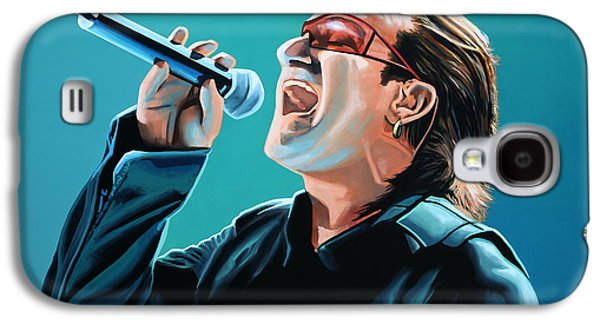 U2 Paintings Galaxy S4 Cases - Bono of U2 Galaxy S4 Case by Paul  Meijering