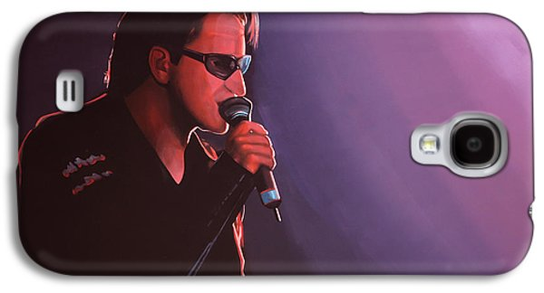 U2 Paintings Galaxy S4 Cases - Bono U2 Galaxy S4 Case by Paul Meijering