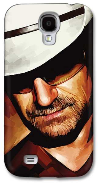 Bono U2 Artwork 3 Galaxy S4 Case by Sheraz A