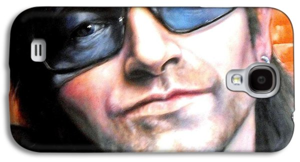 U2 Paintings Galaxy S4 Cases - Bono Galaxy S4 Case by William Ferguson