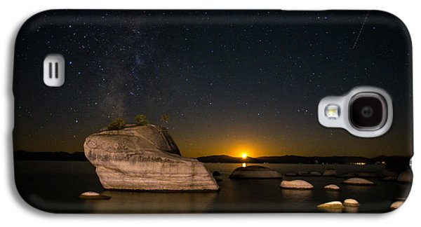 Astrophotography Galaxy S4 Cases - Bonsai Rock Lake Tahoe Galaxy S4 Case by Scott McGuire