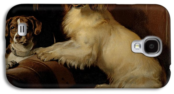 Dog Portrait Galaxy S4 Cases - Bony and Var Galaxy S4 Case by Sir Edwin Landseer