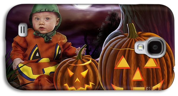Tree Roots Mixed Media Galaxy S4 Cases - Boo Baby Pumpkins Galaxy S4 Case by Bedros Awak