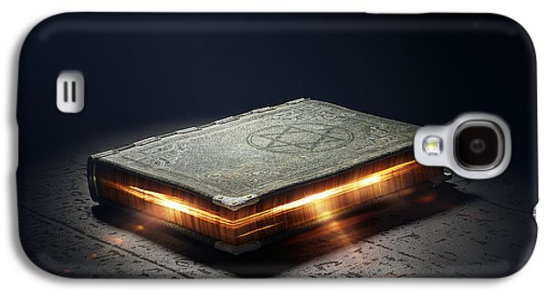 Glowing Galaxy S4 Cases - Book with magic powers Galaxy S4 Case by Johan Swanepoel