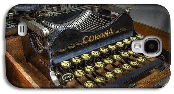 Typewriter Keys Photographs Galaxy S4 Cases - Book Writer Galaxy S4 Case by Daniel Hagerman