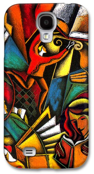 Education Paintings Galaxy S4 Cases - Books Galaxy S4 Case by Leon Zernitsky