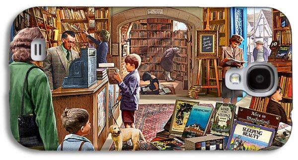 Meiklejohn Graphics - Galaxy S4 Cases - Bookshop Galaxy S4 Case by Steve Crisp